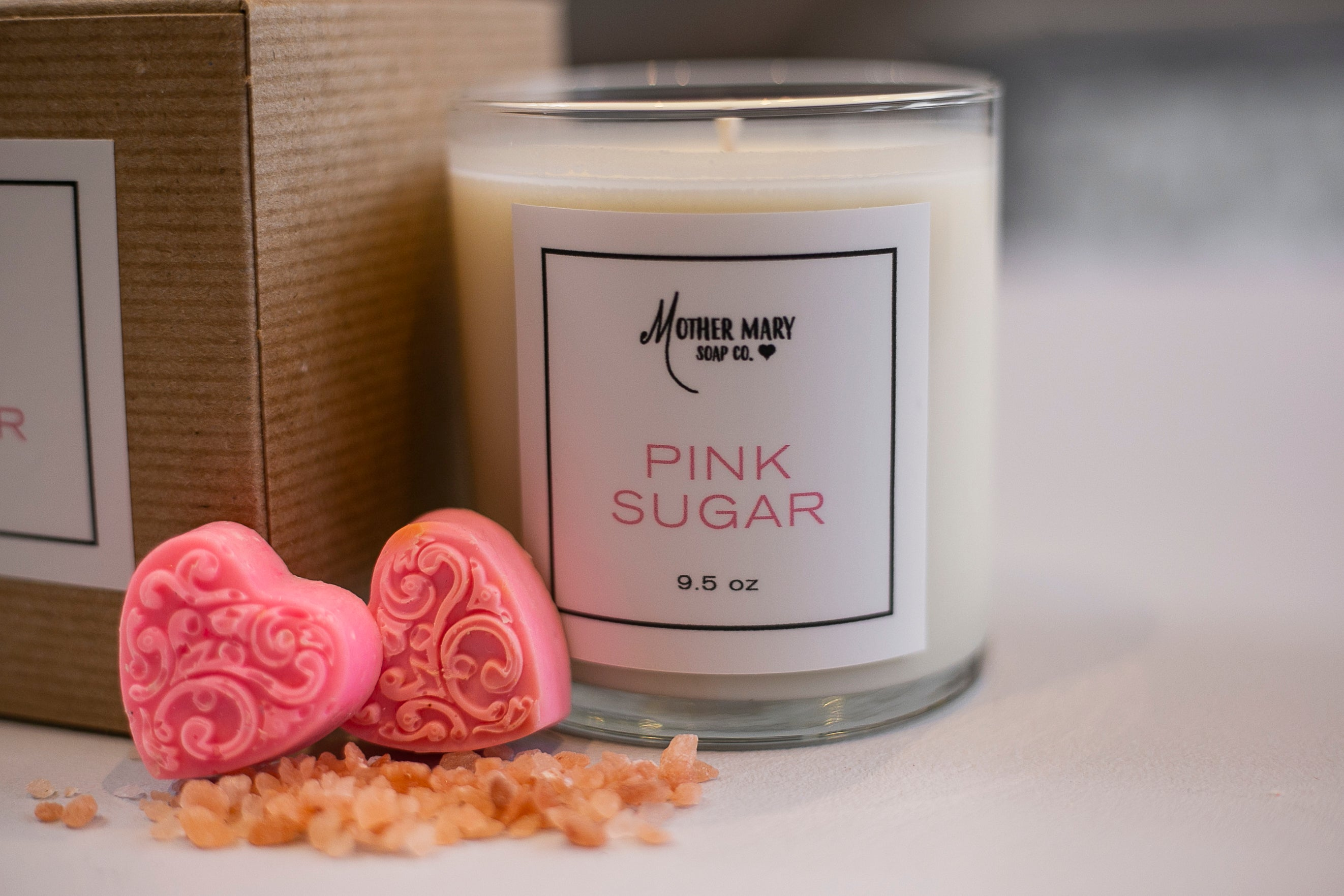 Pink Sugar Candle - Mother Mary Soap Company