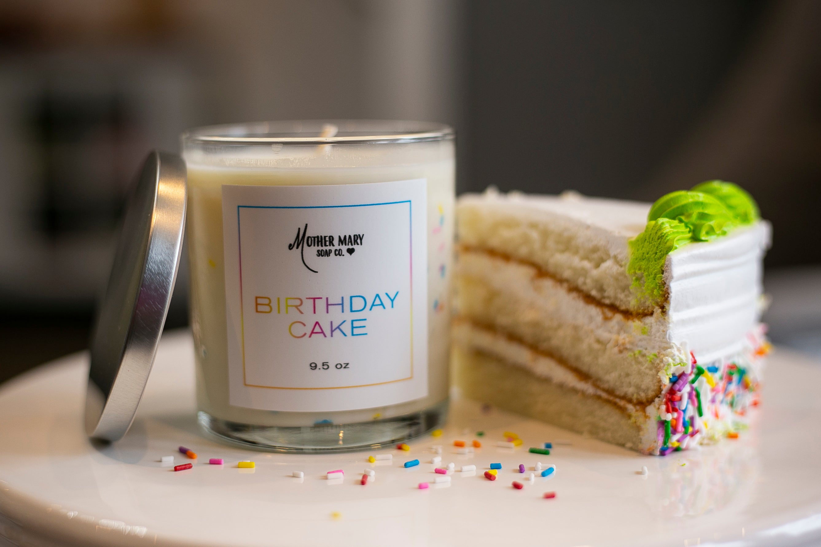 Birthday Cake Candle - Mother Mary Soap Company