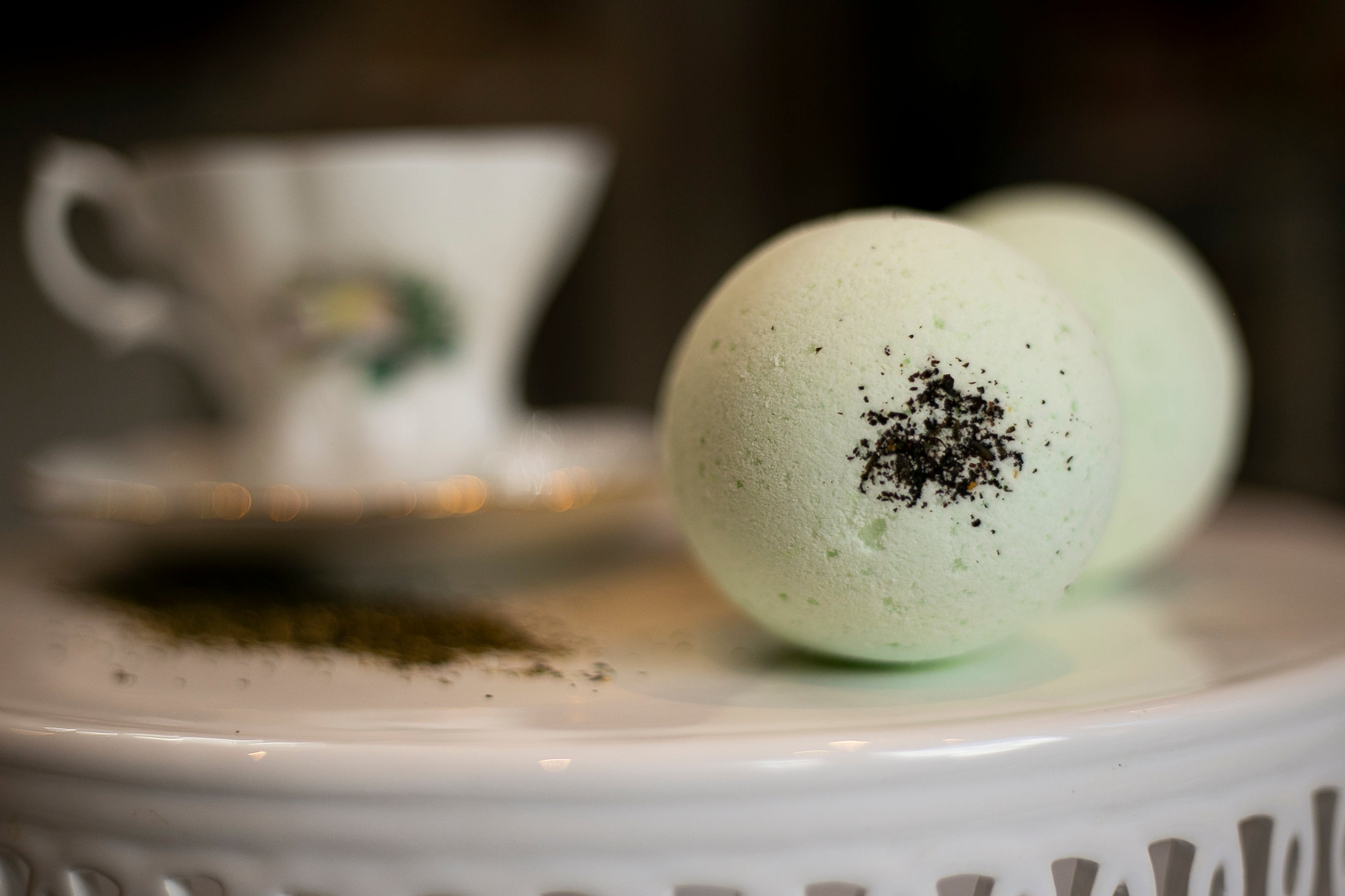 Green Tea Bath Bomb - Mother Mary Soap Company