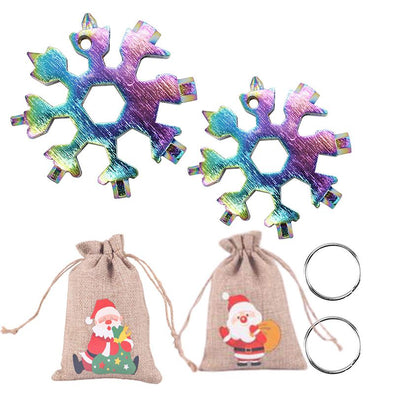 2Pac Snowflake Multitool Stainless Steel Combination Tools Screwdriver Christmas Gifts-Multicolor