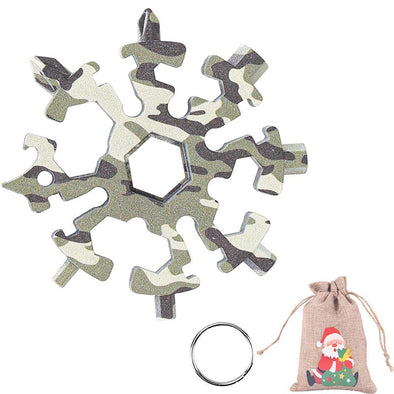 20 in 1 Camouflage Snowflake Multitool Stainless Steel Combination Tools Screwdriver Christmas Gifts
