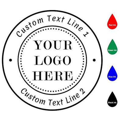 Custom Logo Stamp Self Inking,Logo Stamp Personalized,2 Lines of Text,Rubber Address Stamp for Business,Office,Return,Teacher,Home,Bank - amlion