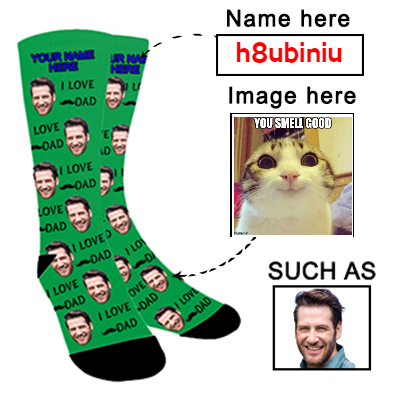 Custom Photo Socks Personalized Funny Face Socks With Photo Unisex - amlion