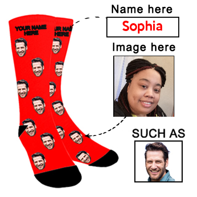 Face Photo Socks Personalized Funny Socks With Photo Unisex - amlion