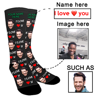 Custom Photo Socks Personalized Funny Face Socks With Photo,Put Your Photo into Socks for Men and Women - amlion