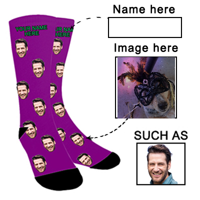 Photo Face Socks Personalized Funny Socks With Photo - amlion