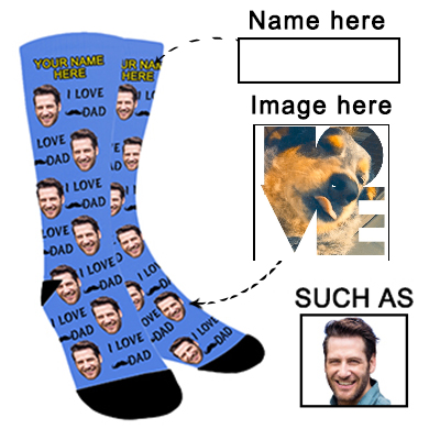 Photo Socks Personalized  Funny Socks With Photo,Custom Face Socks for Men and Women - amlion
