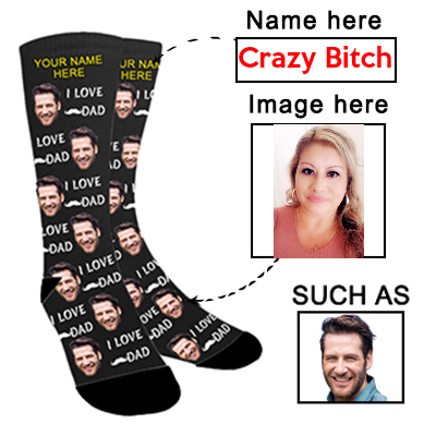 Photo Socks Personalized Funny Socks With Photo,Custom Face Socks,Put Your Photo into Socks for Men and Women - amlion