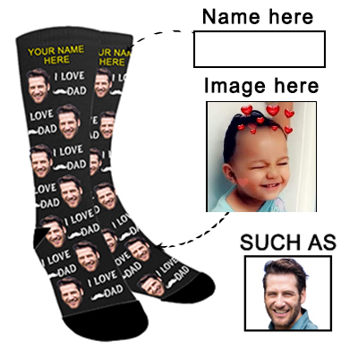 Photo Socks Personalized Funny Socks With Photo,Custom Face Socks,Put Your Photo into Socks for Men and Women