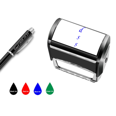 "Personalized Clothing Stamp-Custom Name Stamps Self Inking Rubber Stamp,9/16"" x 1-1/2"",4 Colors Option"