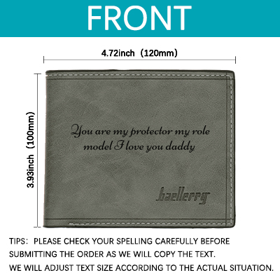 Men Photo Custom Engraved Personalized Wallet for Dad Father's Day