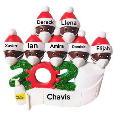 Personalized Name Christmas Ornament kit, Custom 2020 Christmas Name Decorating Kit-7 People