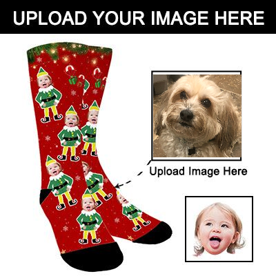 Photo Socks,Christmas Socks,Personalized Face Socks,Funny Socks Turn Photo into Socks for Men and Women