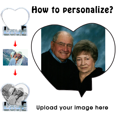 Personalized Custom 3D Crystal Cube Photo, Customized Heart Crystal Photo, Picture Laser Engraved