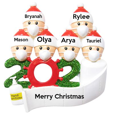 2020 Personalized Christmas Ornament kit, Custom Christmas Name Decorating Kit-6 People