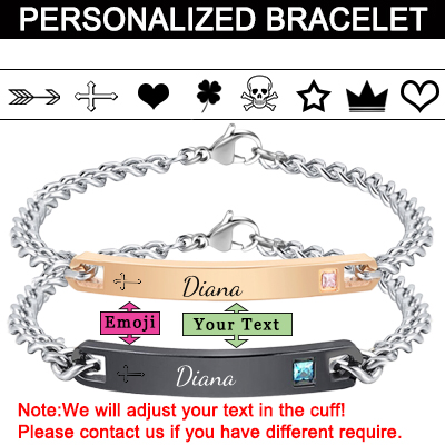 Engraved Cuff Bracelets Personalized  Bracelets for Women Men Couples