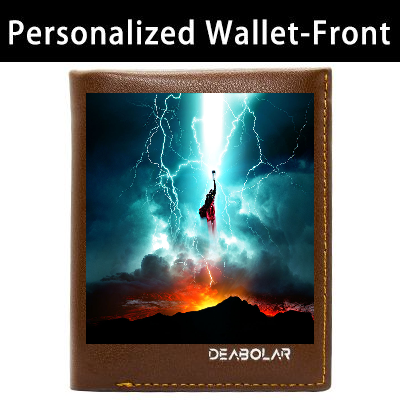Customized Mens Photo Picture Wallet,Customized Engraved Leather Wallet For Him