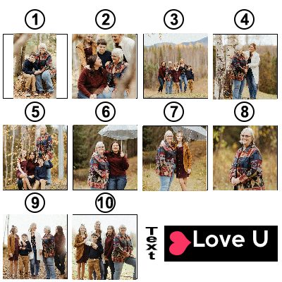 Personalized Photo Keychain Film Camera Roll Multiphoto Gift for Your Lover-10 Photo