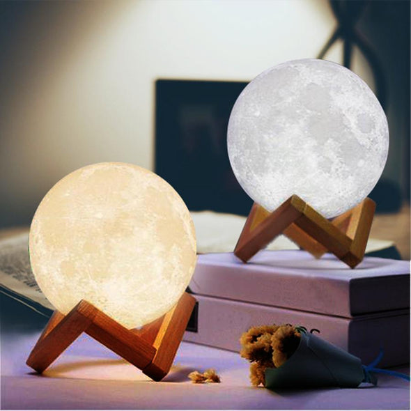 3D Lunar Lamps Daughter's Personalized Gifts Engraved for Daughter Wife Mother Day (7.9 inch/20cm) - amlion