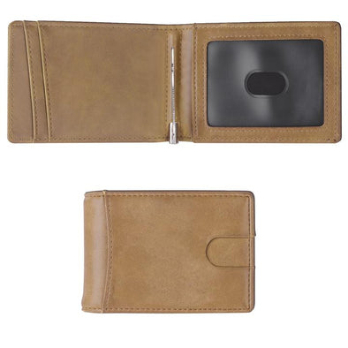 Minimalist Wallet, Slim Bifold Wallet, RFID Blocking Wallets for Men ( Brown)