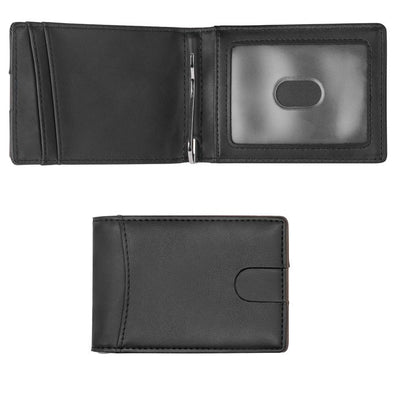 Minimalist Wallet, Slim Bifold Wallet, RFID Blocking Wallets for Men ( Black)