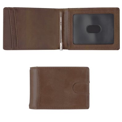 Minimalist Wallet, Slim Bifold Wallet, RFID Blocking Wallets for Men (Dark Brown) - amlion