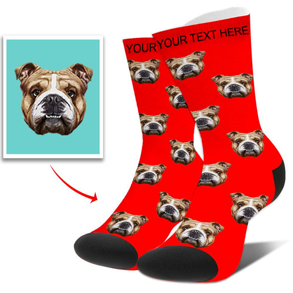 Photo Socks Personalized Funny Socks With Photo,Custom Face Socks Unisex