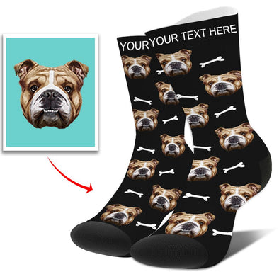 Photo Socks Personalized Funny Socks With Photo,Custom Face Socks,Put Dog, Cat, Other Pets Face Photo into Socks