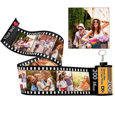 Personalized Custom Photo Picture Camera Film Roll Keychains with Photo Reel Album, Personalized Gifts with MultiPhoto-10 Photo