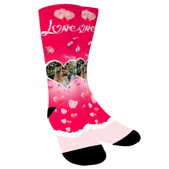 Custom Photo Love Socks for Men Women Unisex - amlion