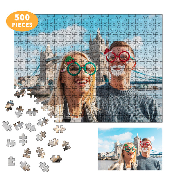 Custom Puzzles Jigsaw from Photos  500 Piece for Adults Teen Kid, Personalized Puzzle
