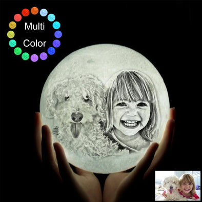Custom 3D Print Photo Moon Light With Picture Engraved for Daughter Wife Mother Day