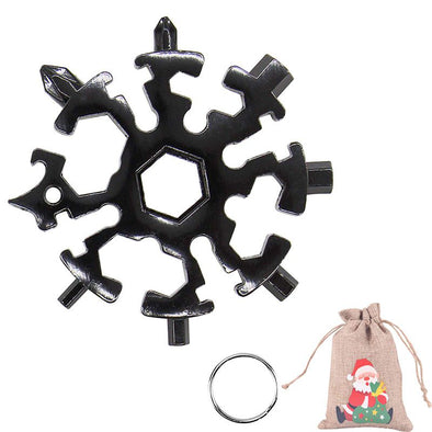 20 in 1 Black Snowflake Multitool Stainless Steel Combination Tools Screwdriver Christmas Gifts