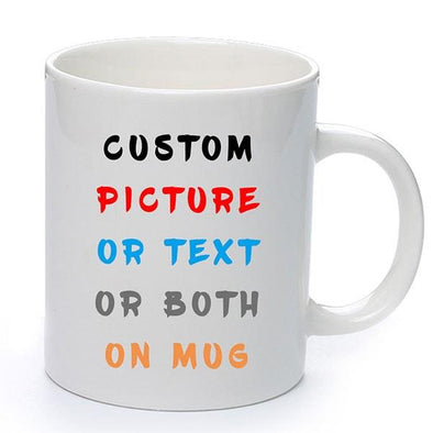 Amlion Personalized Coffee Mug - Add Picture, Logo, or Text to Our Custom Mug, Personalised Mugs for Father, Mother, Birthday & Christmas - 11oz - amlion