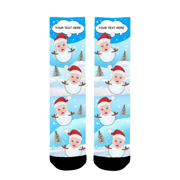 Custom  Christmas Photo Socks Personalized - amlion