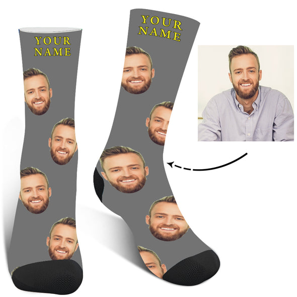 Personalized Photo  Face Socks For Men And Women - amlion