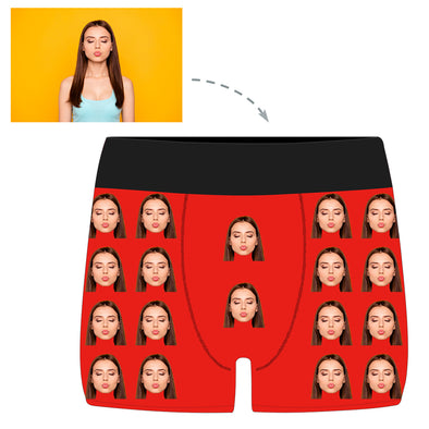 Personalized Photo Men's Boxers Briefs With Your Face - amlion