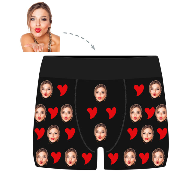 Personalized Face Valentine's Day Men's  Boxer Briefs - amlion