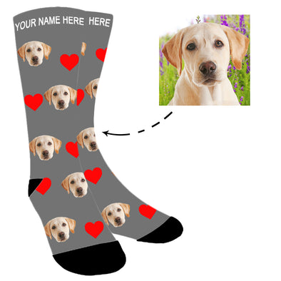 Custom  Photo Funny Dog Socks for Men Women Unisex - amlion
