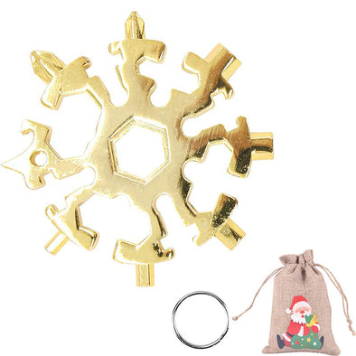 20 in 1 Gold Snowflake Multitool Stainless Steel Combination Tools Screwdriver Christmas Gifts