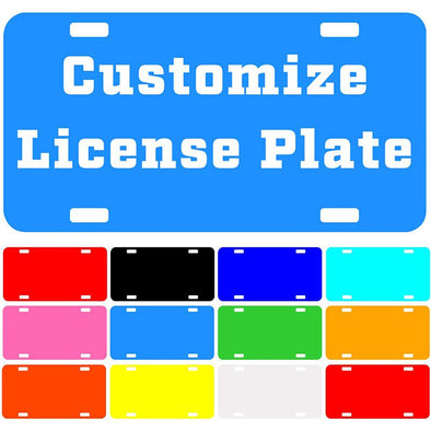 "Custom License Plate with Your Image, Custom Metal Novelty Car Tag-DoderBlue, 12"" x 6"""