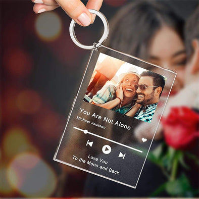 Personalized Song Poster Scannable Spotify Code Acrylic Music Keychain for Valentine's Day,Mothers Day