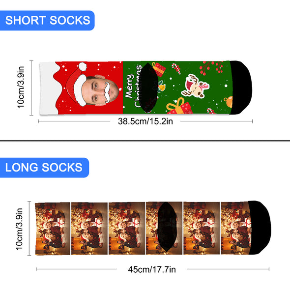 Photo Socks Personalized  Christmas Socks With Photo - amlion