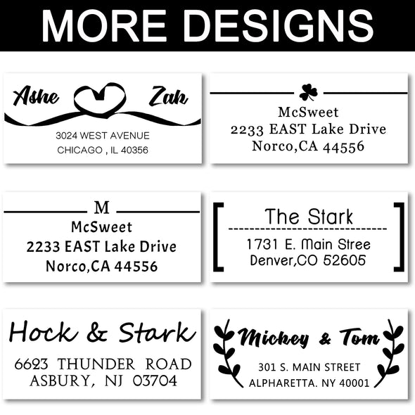"Custom Rubber Stamps Self Inking Stamps Personalized - Return Address Wedding Stamps -15/16"" x 2-3/8"" - amlion"