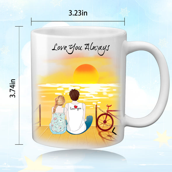 Custom Couple Coffee Mug for Women Men - amlion