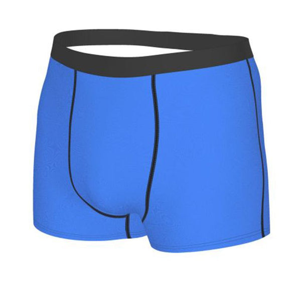 Men's Personalized  Property of Name Blue Boxer Briefs, Personalized Name Underwear for Him
