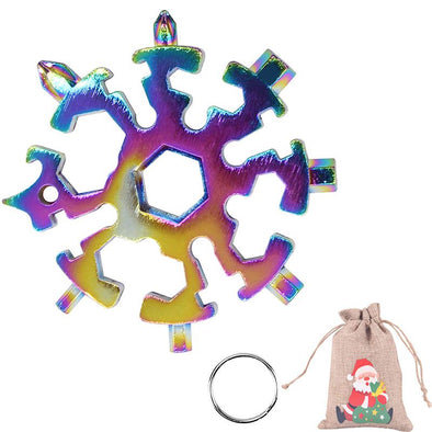 20 in 1 Multicolor Snowflake Multitool Stainless Steel Combination Tools Screwdriver Christmas Gifts