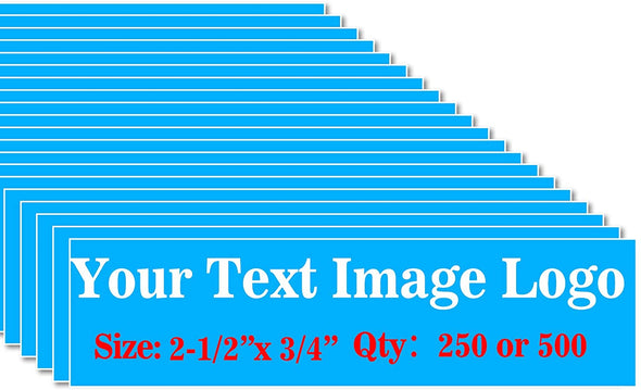 500PCS Custom Personalized Stickers Labels Logo Text Image Tag for Business