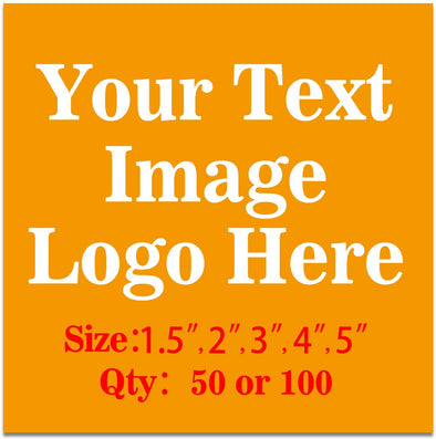 "50PCS Custom Personalized Stickers Labels Square Logo Text Image Tag for Business,Customized (SIZE: 1.5""square)"