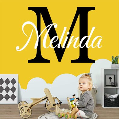 "Custom Personalized Name Wall Decal Stickers Art for Baby Girls Boys Bedroom (SIZE:20"" Wide by 14"" High)"
